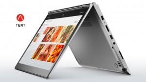 14 calowy notebook podobnie jak inne modele Yoga został wyposażony w zawiasy umożliwiające pełen obrót ekranu
